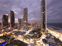 1 & 2 Bedroom Executive Apartments, View by Night - Paradise Centre Apartments
